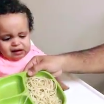 This baby's excitement about a glass of wine is all of us after a long day