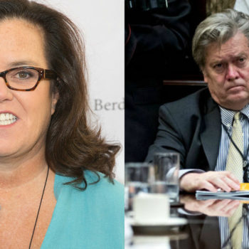 Rosie O'Donnell just changed her Twitter avatar to her as Steve Bannon, and our brains just broke