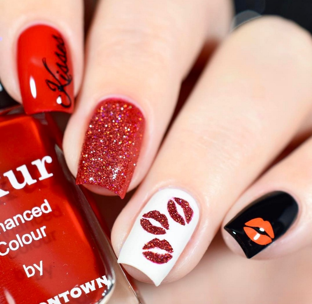 14 Valentine's Day-inspired nail designs to get you in the spirit of love - 14 Valentine's Day-inspired Nail Designs To Get You In The Spirit Of