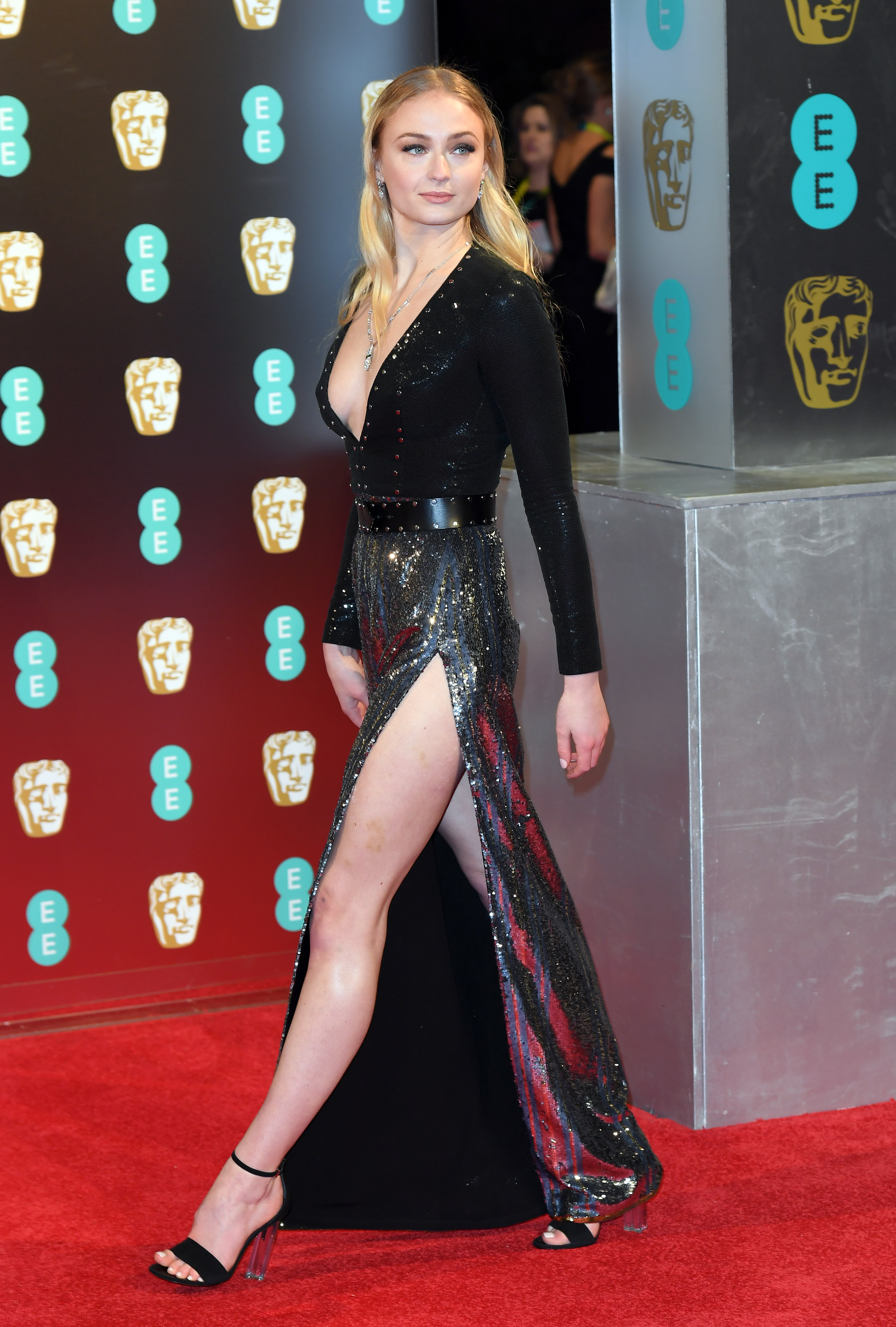 Why Fans Think Sophie Turner S Glamorous Baftas Look Is A