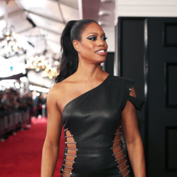 Laverne Cox met Beyoncé last night at the Grammys, and her lack of chill is all of us