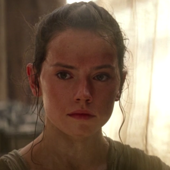 """Rey is front and center with a brand new look for """"Star Wars: The Last Jedi"""" and we're feeling this so hard"""
