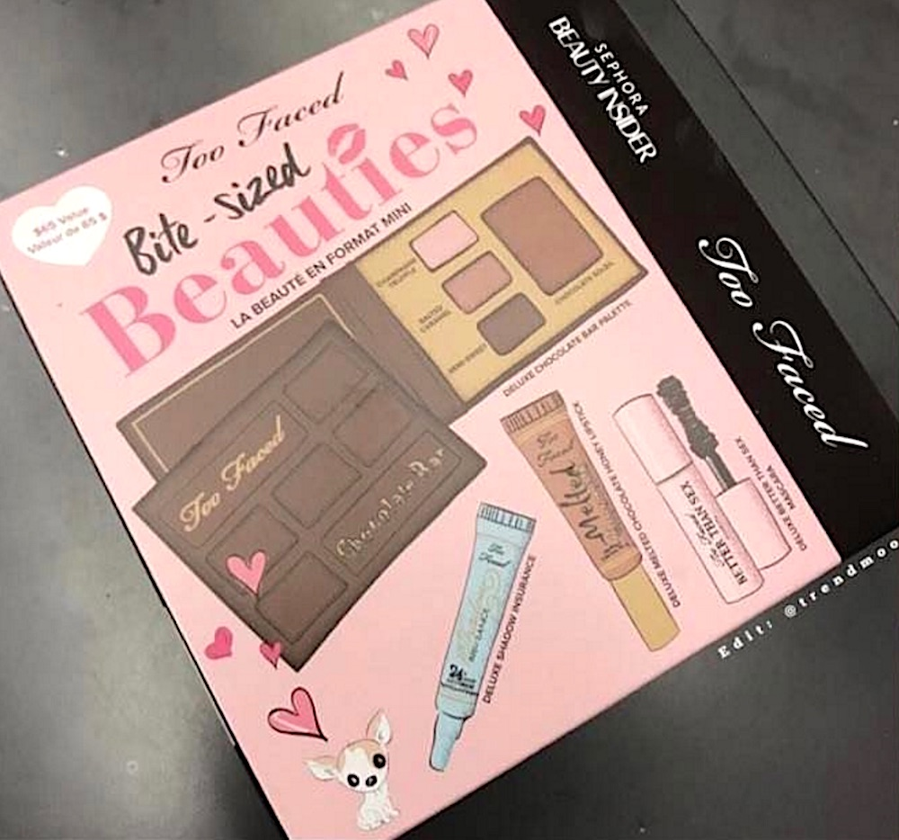gasp too faced dropped their bite sized beauties set at sephora hellogiggles. Black Bedroom Furniture Sets. Home Design Ideas