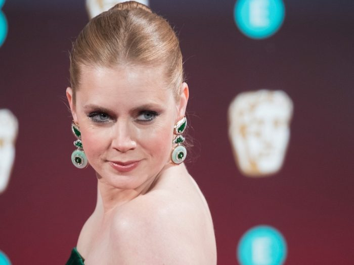 Amy Adams' plunging silver Oscars dress is old-school ...