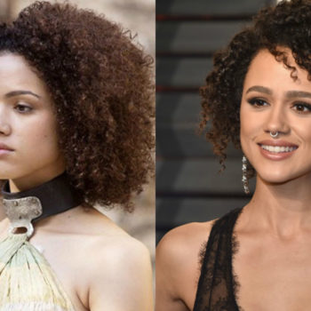 """Nathalie Emmanuel brought """"Game of Thrones"""" glam to the Vanity Fair Oscars party"""