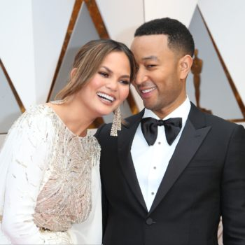 Chrissy Teigen has been driving around Los Angeles roasting John Legend for losing an Oscar