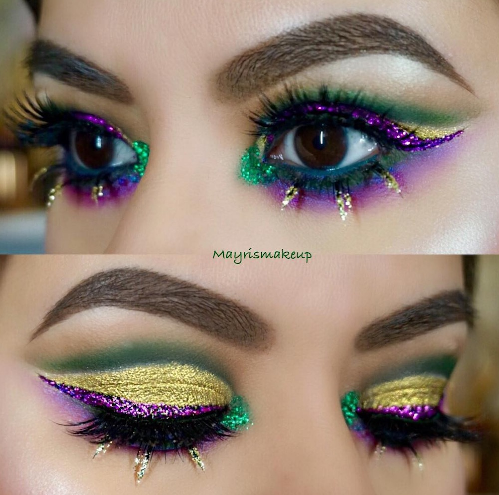 Here Are 13 Mardi Gras Inspired Makeup Looks That Are