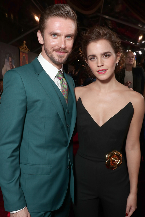 Watson Had To Stop For A Photo Op With Dan Stevens Aka The Beast Her Beauty