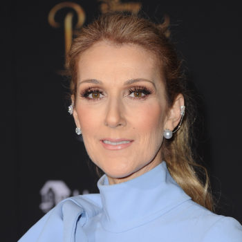 Celine Dion looks like a real-life Mary Poppins in this floral Gucci coat