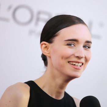 Rooney Mara's red carpet pantsuit at SXSW is Victorian meets Audrey Hepburn