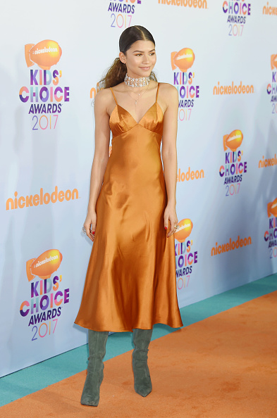 Look Up A Number >> Zendaya's orange slip dress is only $38, and here's how to ...