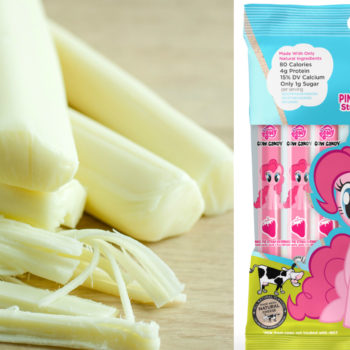 Pink strawberry string cheese now exists, if you're into this sort of thing