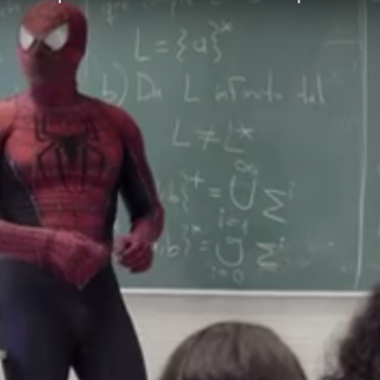 This real life superhero teaches science in a Spider-Man suit