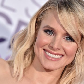 "Kristen Bell can't keep quiet about her crush on this ""silver fox"""
