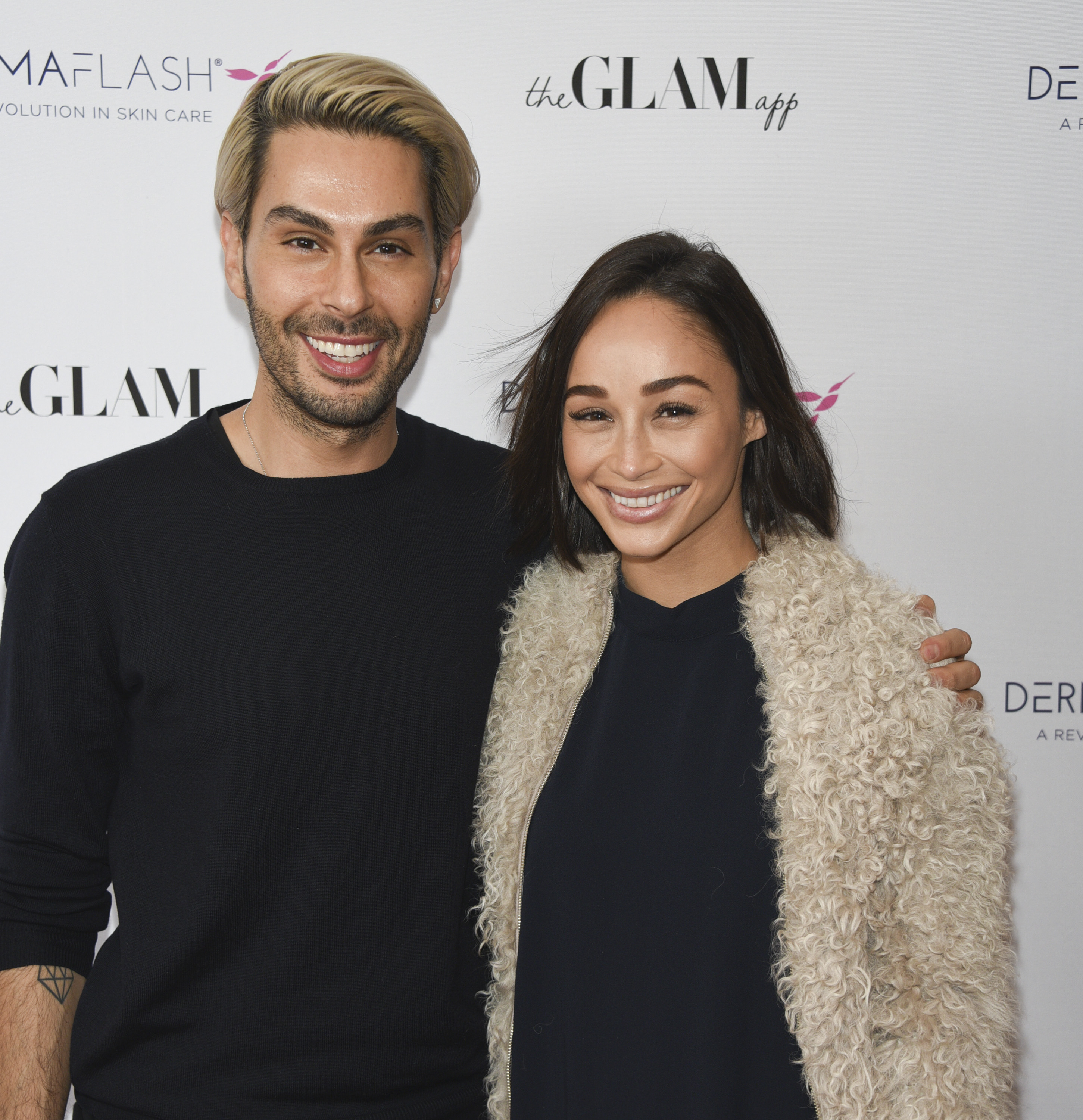BEVERLY HILLS, CA - FEBRUARY 24:  Joey Maloof and Ashley Madekwe attends The Glam App x DERMAFLASH Host Pre-Oscars Suite at Peninsula Hotel on February 24, 2017 in Beverly Hills, California.  (Photo by Michael Bezjian/WireImage)