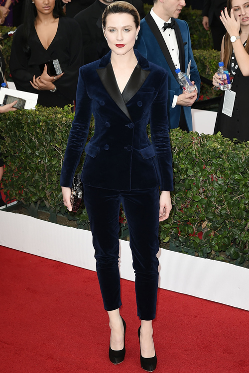 Evan Rachel Wood Kept Up Her All Suit Promise With A