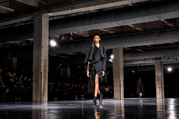 PARIS, FRANCE - MARCH 03:  A model walks the runway during the Yohji Yamamoto show as part of the Paris Fashion Week Womenswear Fall/Winter 2017/2018  on March 3, 2017 in Paris, France.  (Photo by Peter White/Getty Images)
