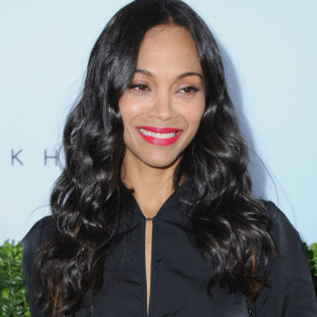 Zoe Saldana looked like a cool witch at Victoria Beckham's party