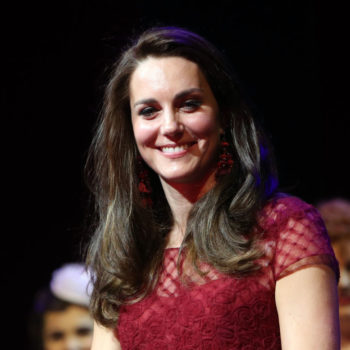 After Kate Middleton wore this wine red Marchesa dress, it sold out immediately