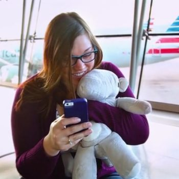This stuffed animal gives hugs, and we need one ASAP