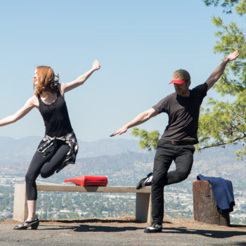 "Practice makes perfect for Emma Stone and Ryan Gosling in these behind-the-scenes ""La La Land"" pictures"