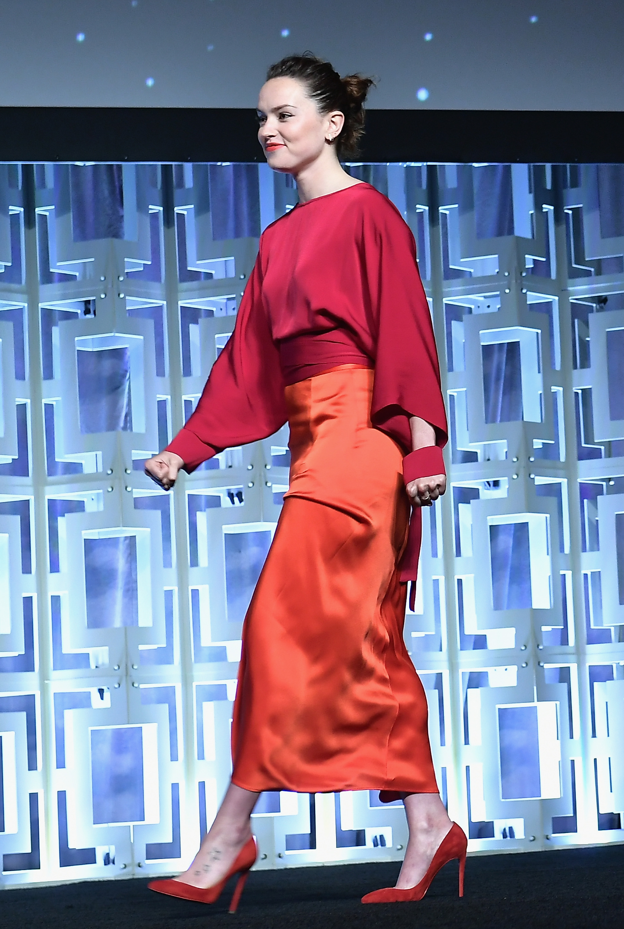 Daisy Ridley S Quot Star Wars Quot Celebration Outfit Perfectly