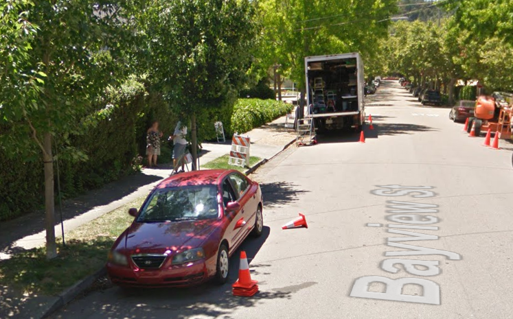 """Looks like Google Maps caught """"13 Reasons Why"""" while they were filming!"""