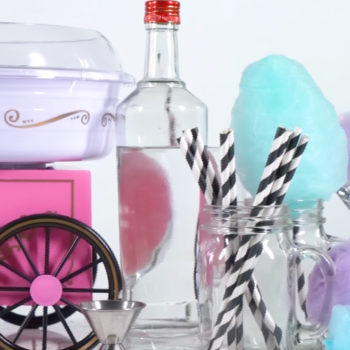 This Spiked Cotton Candy is your favorite childhood sweet treat with an adult twist