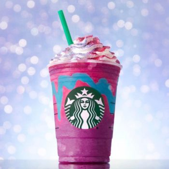 Starbucks inspired Unicorn Frappuccino nail art, because of course it did