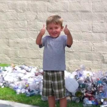 Everyone is freaking out over this 7-year-old who recycled his way to $21,000