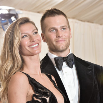Tom Brady & Gisele Bündchen are spouses who #twin in *identical* outfits at a pre-MET Gala bash