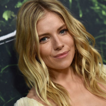 Sienna Miller rocked silk on silk, and the result is appropriately sleek