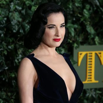 Dita Von Teese looked super luxe in a satin jumpsuit, and here's how you can cop her style