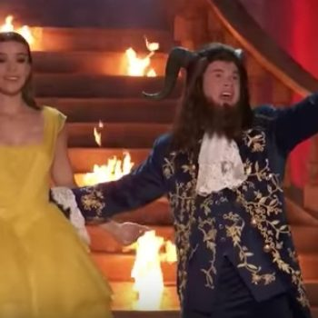 "Here's Adam Devine's epic ""Beauty and the Beast""-inspired MTV Movie & TV Awards opener"