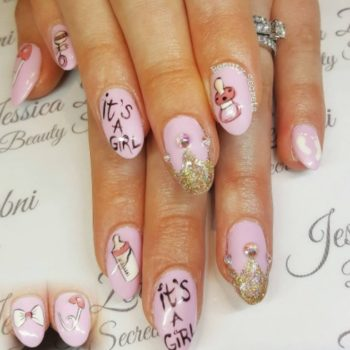 Mothers-to-be are using nail art to reveal their baby's gender
