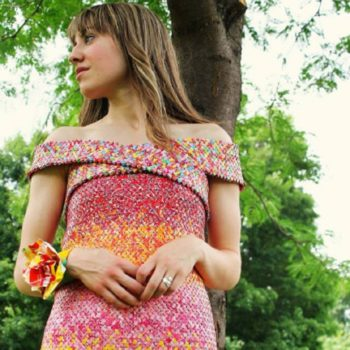 This dress made of Starburst candy wrappers is absolutely stunning and took five years to make