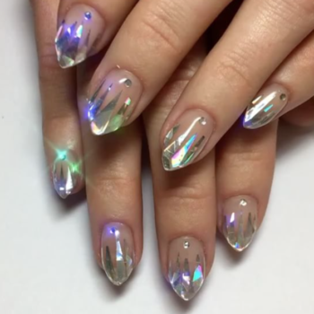 Dripping unicorn nails will allow you to have an actual rainbow on you at all times