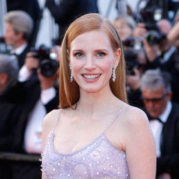 """Jessica Chastain's Cannes dress magically turned her into """"Beauty and the Beast's"""" feather duster"""