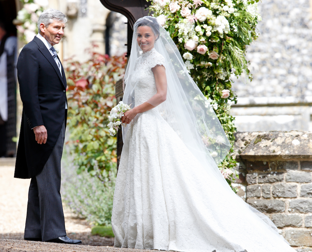 Here 39 s the dish on pippa 39 s wedding menu and her wedding for Pippa middleton wedding dress