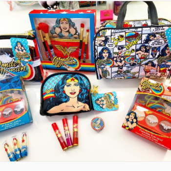 Hop in your invisible jet, because there's a Wonder Woman-themed makeup collection at Walgreens
