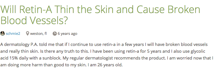 A dermatologist weighs in on the myth that retinoids thin the skin