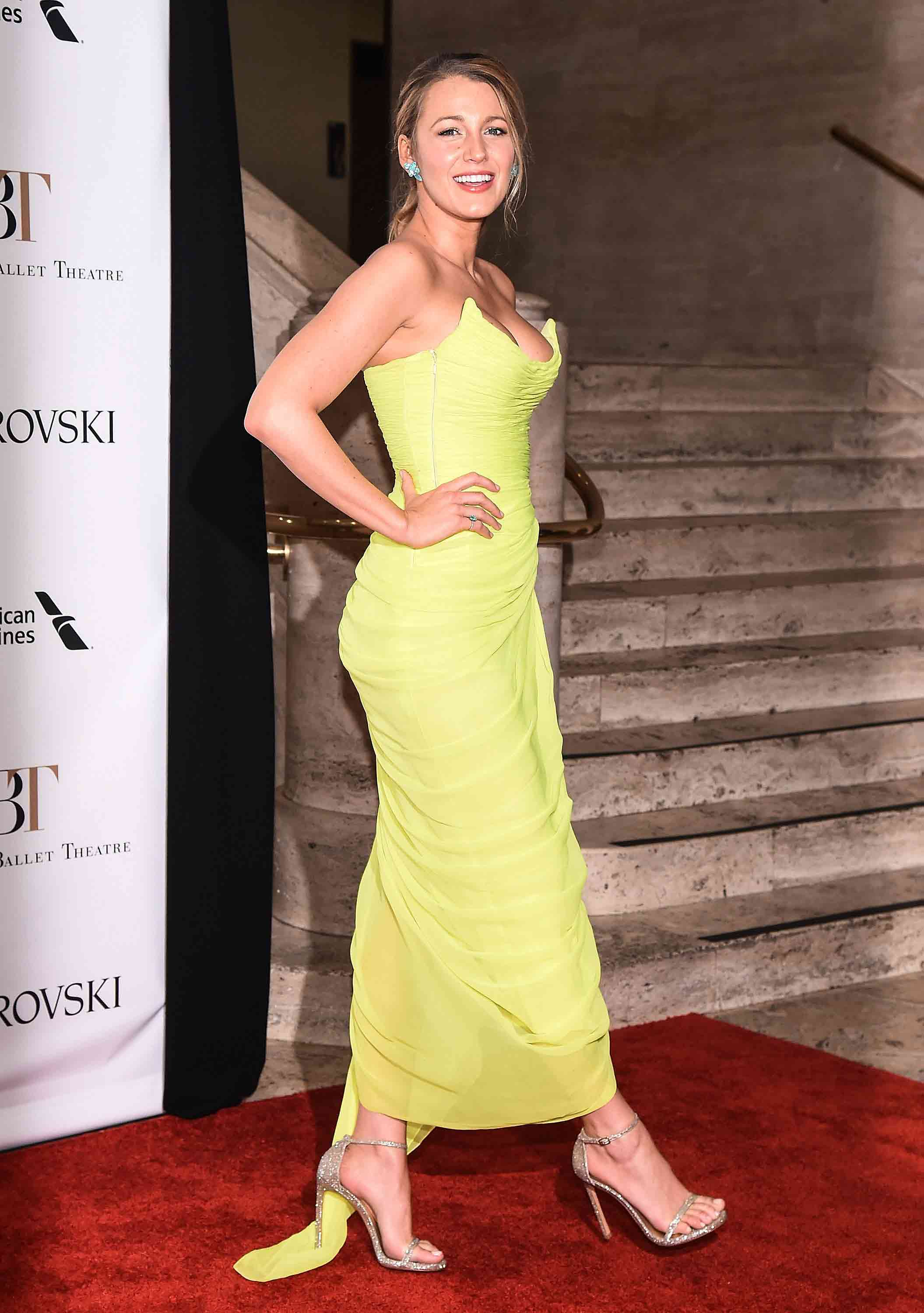 You NEED to see Blake Lively\'s neon yellow dress as soon as possible ...