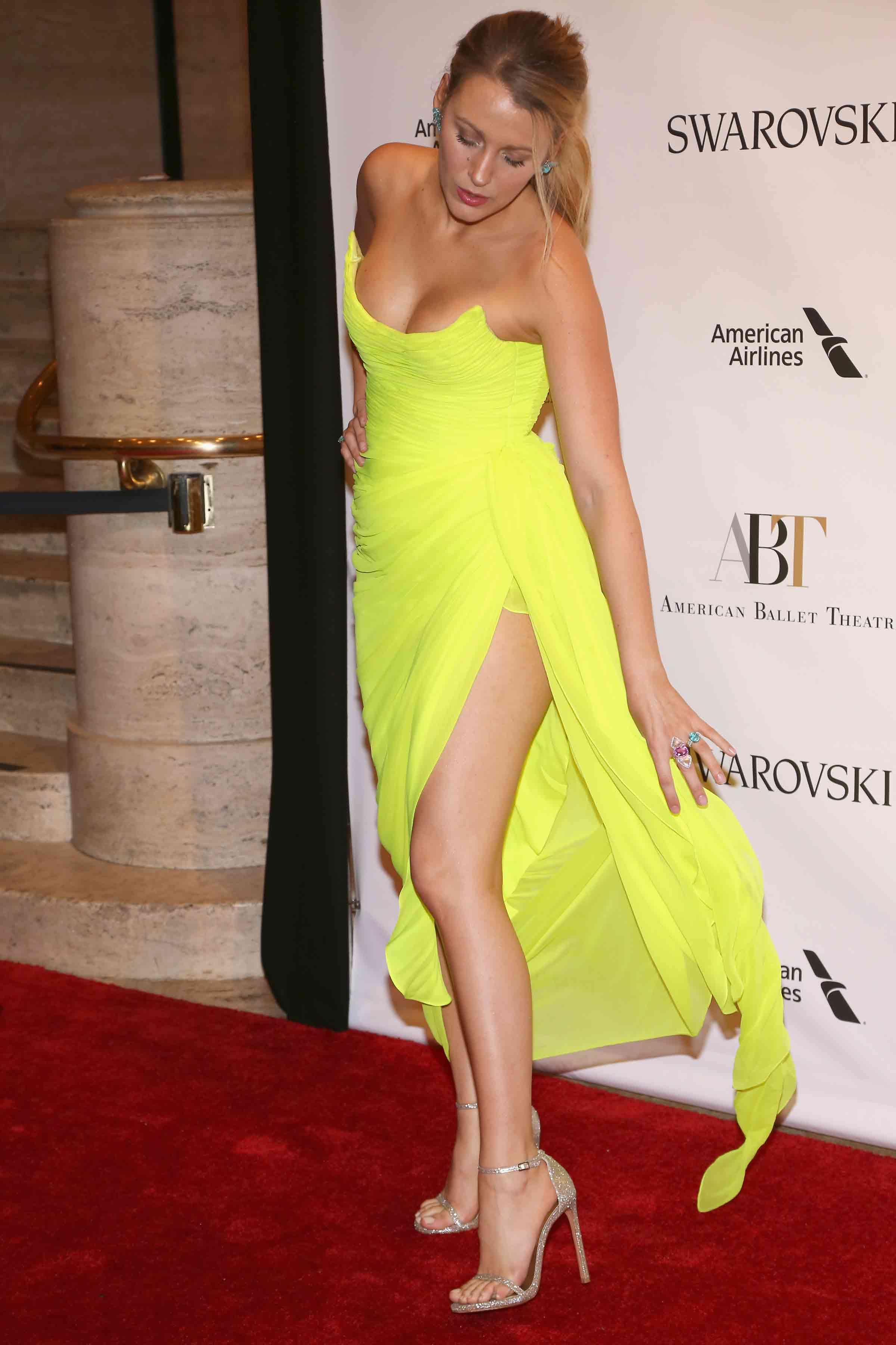 you need to see blake livelys neon yellow dress as soon