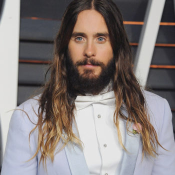 Jared Leto wears a bumble bee shirt and purple velvet, makes us do a double-take in the best way