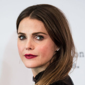 Keri Russell's multi-way striped skirt looks like the chicest optical illusion we've ever seen