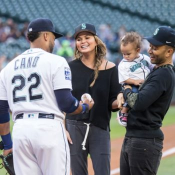 Baby Luna threw the first pitch at a professional baseball game, and she crushed it