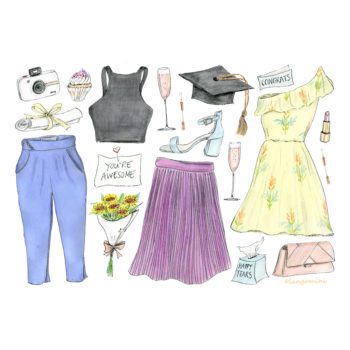 What you should wear with your graduation gown, illustrated