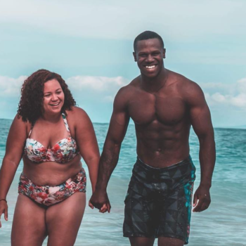 This woman's post about her and her husband's beach bodies is going viral for the best reason