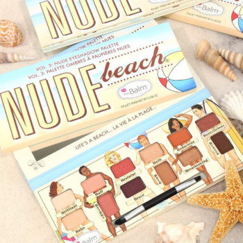 The Balm Cosmetics launched their Nude Beach eyeshadow palette, and it's cheeky