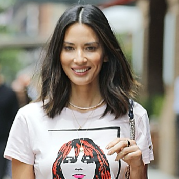 Olivia Munn's adorable floral leather miniskirt is on sale right now!